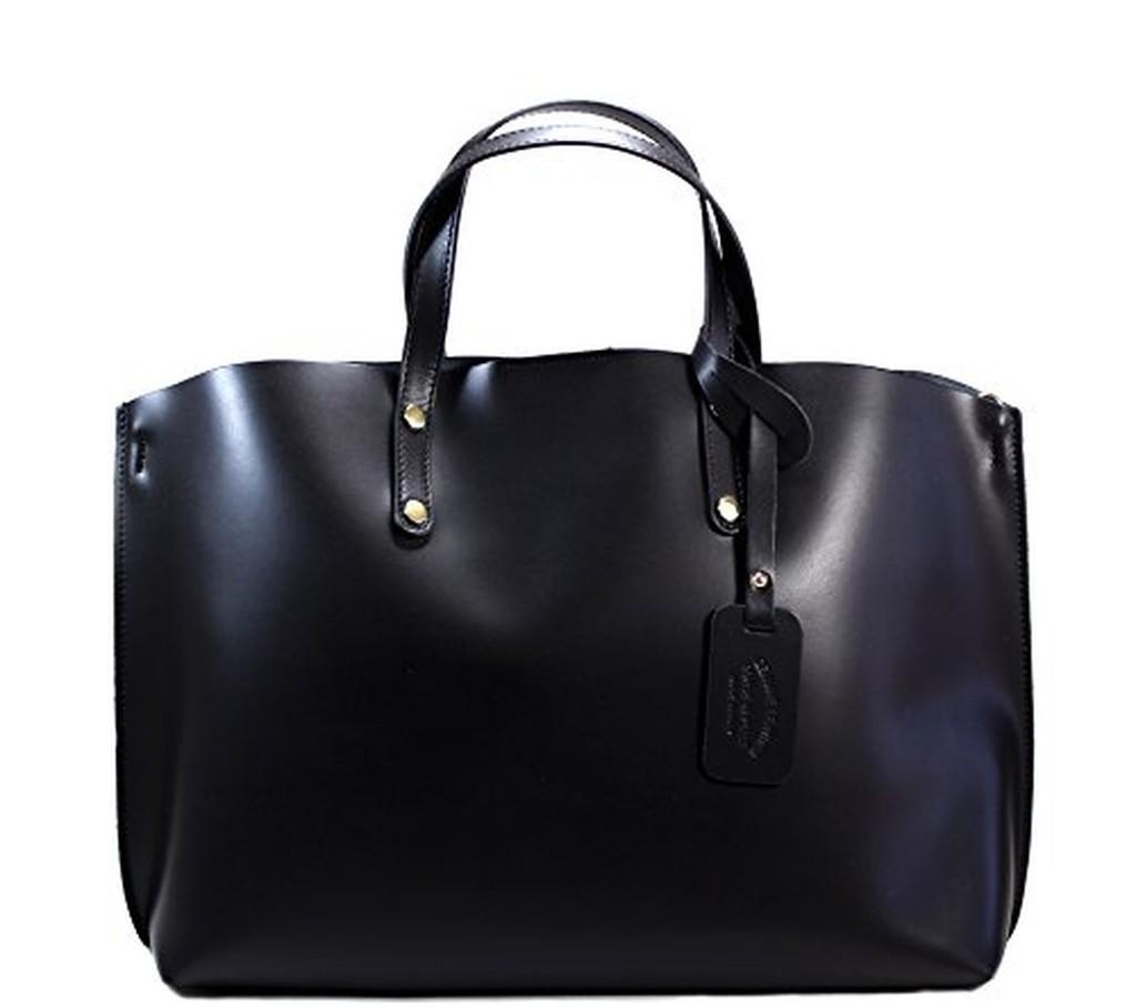 Sac A Main Cartable Cuir Noir : Cuir v?ritable sac port? main cabas lisse