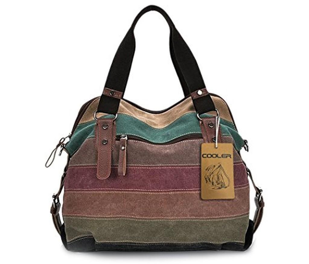 Sac à Main Bandoulière Femme De Marque : Cooler sac bandouli?re femme en toile multicolore et