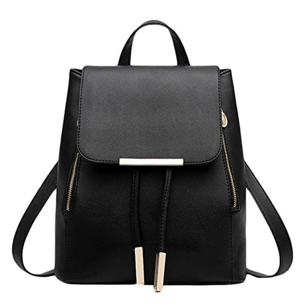 junda sac dos tendance cartable sac de loisir pour femme large pu noir 2016 soldes. Black Bedroom Furniture Sets. Home Design Ideas