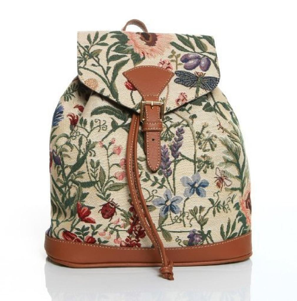 signare petit sac dos backpack tapisserie toile mode. Black Bedroom Furniture Sets. Home Design Ideas