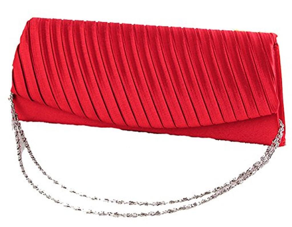 Pochette Soirée pli rouge 4s1AuPX6Q