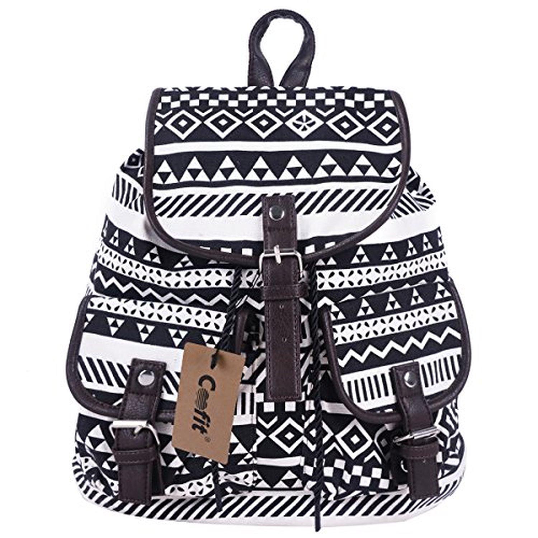 coofit toile sac dos pour femmes filles casual livre sac sport sac dos paule sac scolaire. Black Bedroom Furniture Sets. Home Design Ideas