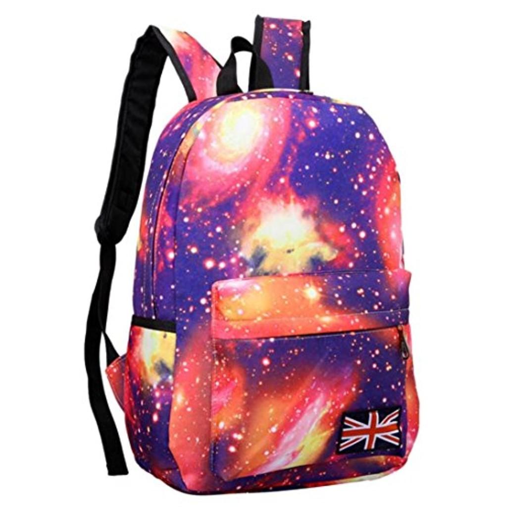 Internet Unisexe Galaxy modèle voyage sac à dos toile loisirs sacs cartable 2016