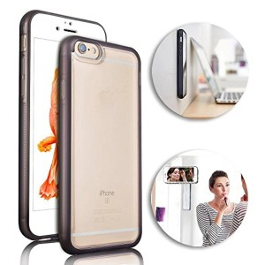 Phone Case pour iPhone 7 Etui,Vandot iPhone 7 Selfie Universal Case Innovation auto-adhésives Housse Case Self-adhesive mobile phone Cover Nano-suction technology Protection Case iPhone 7 4.7 Pouces Coque « Anti-Gravity Anti-Slip Couverture-blanc+brun Bumper 2016