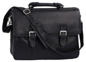 »Oxford» – Serviette by BIANCI, cuir véritable, noir – »LEAS Classic Bags» 2016