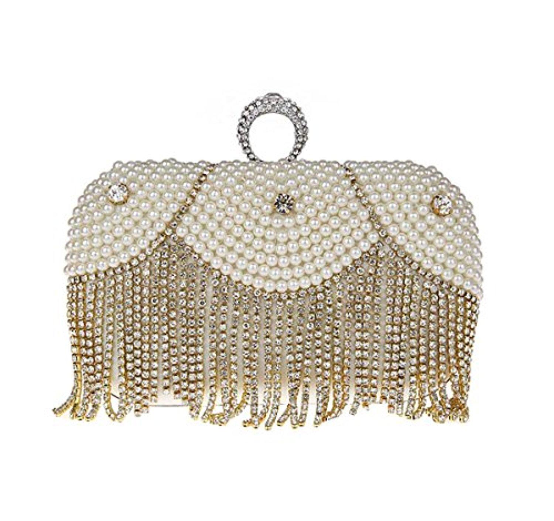 kaxidy sac a main de soiree pochette soir e de mariage perles d 39 imitation en cristal sacs. Black Bedroom Furniture Sets. Home Design Ideas