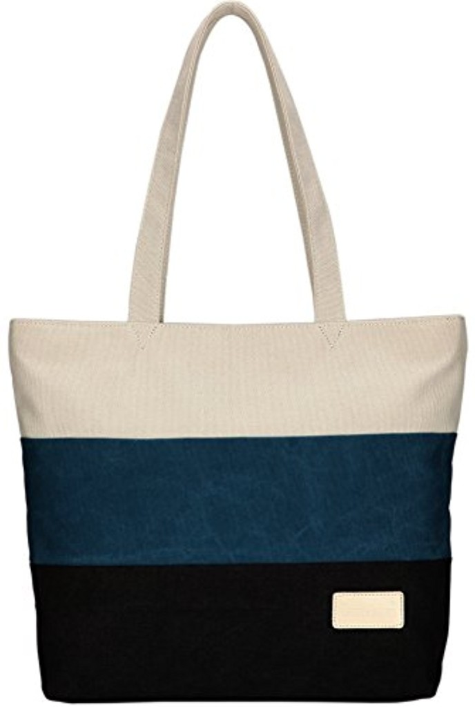 dccn sac main en toile rayure loisir sac bandouli re femmes filles shopping ecole sacs de. Black Bedroom Furniture Sets. Home Design Ideas