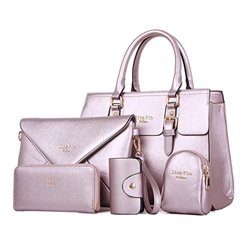 newbestyle femme 5 pi ces sac en cuir sac a main epaule de sac porte monnaie carte femmes. Black Bedroom Furniture Sets. Home Design Ideas
