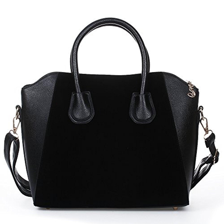 facilla sac main sacoche bandouli re epaule crois pu noir femme shopping ol 38x12x29cm 2017. Black Bedroom Furniture Sets. Home Design Ideas