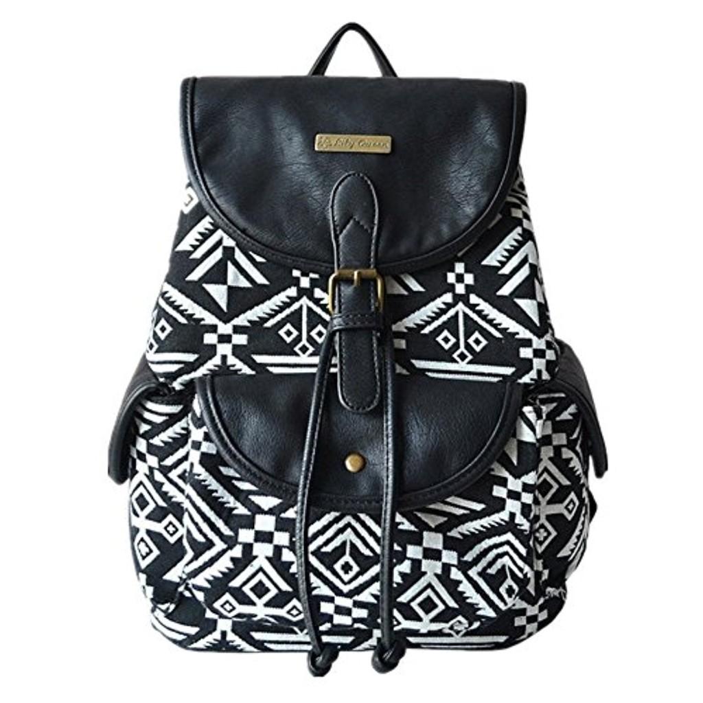 minetom femmes filles mode toile et cuir sac dos pour cole voyage 2017 soldes sac mains. Black Bedroom Furniture Sets. Home Design Ideas