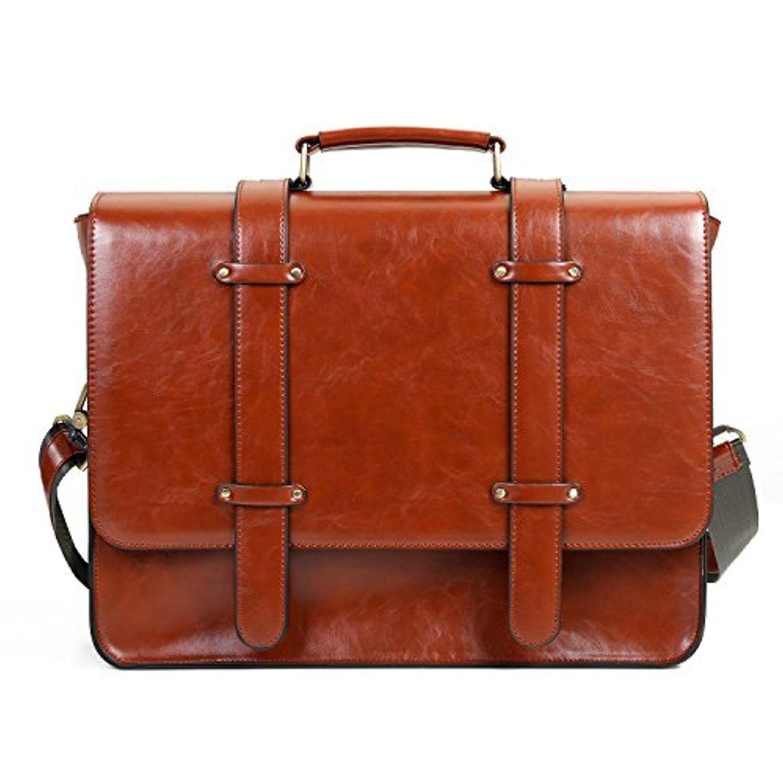 ecosusi sac cartable vintage sac port epaule sac main r tro pour femme sac pour ordinateur. Black Bedroom Furniture Sets. Home Design Ideas