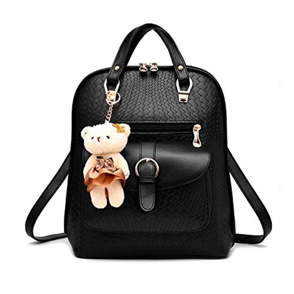 femme sac dos sac bandouli re en cuir pu mini sac dos sacs loisir avec ours casual 2017. Black Bedroom Furniture Sets. Home Design Ideas