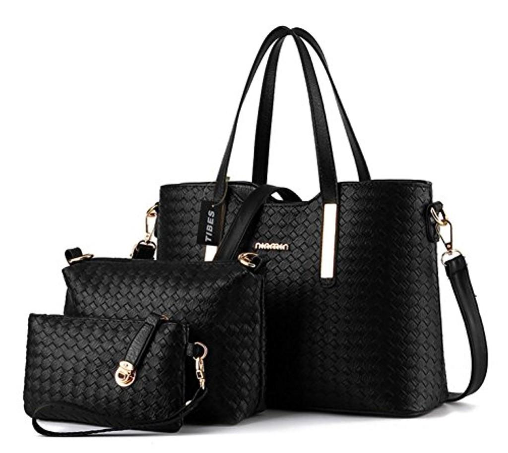 tibes sac femme cuir mode pu cuir sac main sac bandouli re sac 3pcs sac 2017 soldes. Black Bedroom Furniture Sets. Home Design Ideas