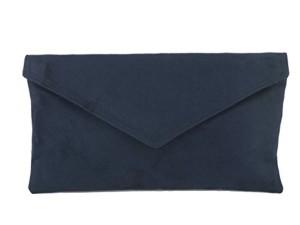 Sac À Main Pochette Enveloppe Faux Daim en marine bleu fonce 2017
