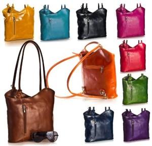 BHBS Femmes Véritable cuir italien Unique exploitation d'épaule ou sac à dos sac à main 31x28x8 cm (LxHxP) 2017