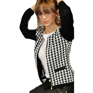 Femme Veste, Feixiang personnalisation Exclusive Mode Manteau Veste Femme Automne Hiver Street pour homme M noir 2017