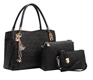 Lot de 3 sacs pour femmes en cuir vintage Sac à main Sac à bandoulière Pochette 2017
