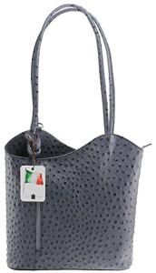 cuir d'autruche de la CTM Sac femmes, 28x30x9cm, 100% véritable cuir Fabriqué en Italie 2017