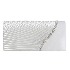 Damara Pochette de Soirée Femme Satin Strass Léger Bouton Magnétique 2018