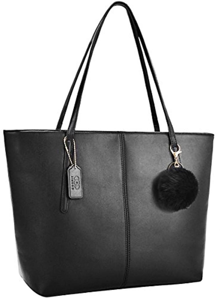 sac femme coofit sac main femme cabas femme sac bandouli re pu cuir sac noir sac portes. Black Bedroom Furniture Sets. Home Design Ideas