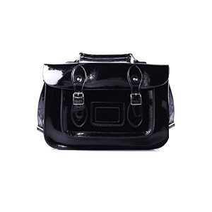 Accessoryo – petit sac cartable noir brillant 2018
