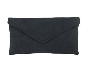 Sac À Main Pochette Enveloppe Faux Daim en noir 2018