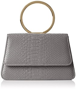 SwankySwans  Piper Snakeskin Pu Leather Clutch Bags D Grey, Sac femme 2018