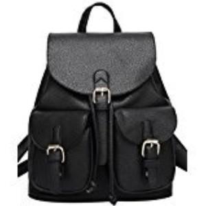Sac a dos femme – Coofit Sac à dos en PU cuir synthétique Cartable college woman's Backpack Sac dos noir Sac a dos college Sac a dos voyage Cartable dos femme 2018