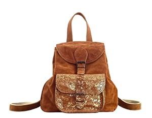LE BAROUDEUR Naturel – Doré petit sac à dos en cuir suédé nubuck de vachette style vintage PAUL MARIUS 2018