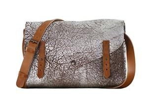 L'INDISPENSABLE Ambre Argenté cuir souple besace style vintage sacoche PAUL MARIUS 2018