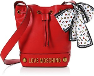 Love Moschino Nappa Grain Pu Rosso, Sacs baguette femme, Rouge (Red), 11x26x24 cm (B x H T) 2018