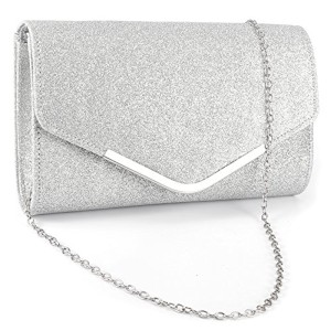 Anladia Sac a main besace chaine Femme Pochette Glitter soiree mariee mariage 2018