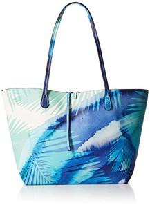 Desigual Bols_blue Palms Capri femme Sacs portés épaule Turquoise (Turquesa) 28x13x30 cm (B x H x T) 2018