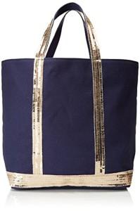 Vanessa Bruno femme Cabas Medium Coton Et Paillettes Cabas – 16x30x43 cm (W x H x L) 2018