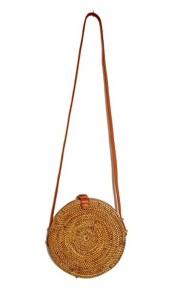 Batu Belig Bag, sac tambourin en rotin. diamètre 20cm 2018