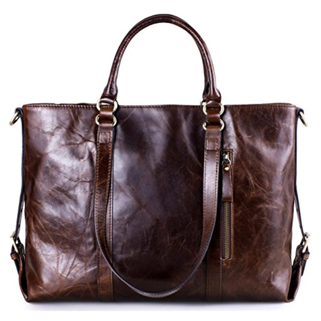 Greeniris sac à main bandoulière femme sac à main en cuir vintage voyage brun clair 2018