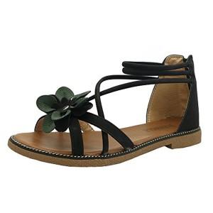 Homebaby Sandales Femmes Plates-Sandales Femmes Été Femmes Plates Sandales avec Fleur Sandales en Plein Air Pantoufles Chic Sandales Chaussures de plage Sandales Bouts Ouverts 2018
