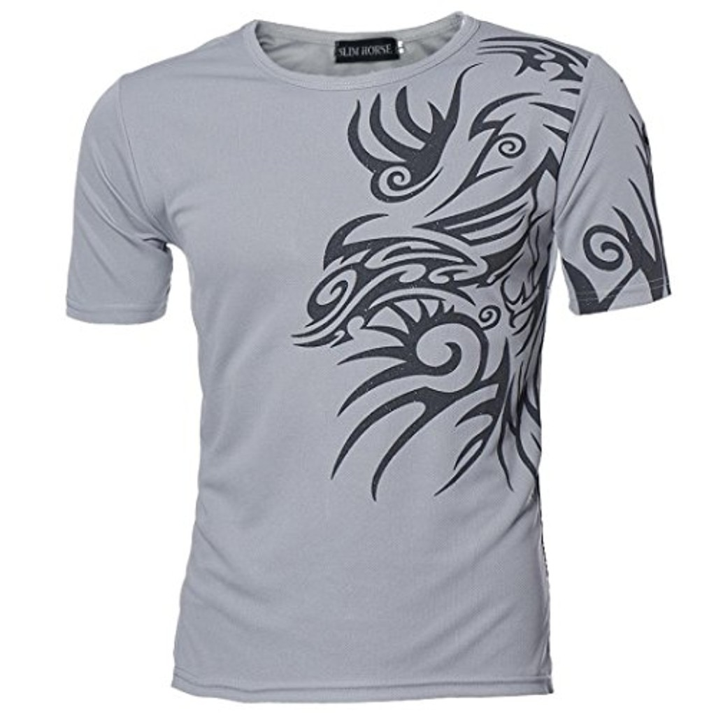 Ineternet Manches Courtes T-Shirts Hommes Sports Tees Slim Design Aplati Chemise 2018