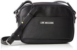Love Moschino Borsa Pu Nero, Sacs baguette femme, Noir (Black), 8x14x21 cm (B x H T) 2018