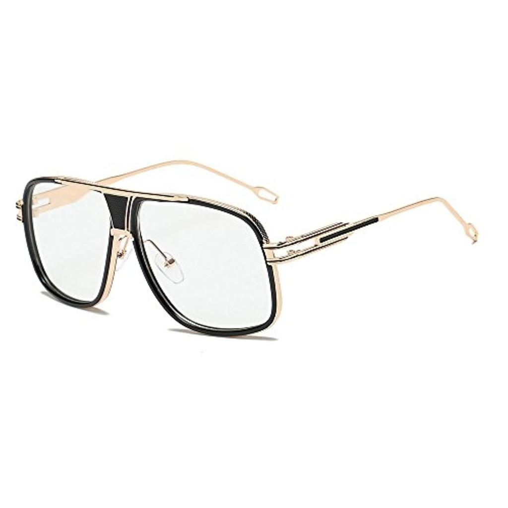 Lunettes femmes,Homebaby lunettes rétro ronde cadre Lunettes à verres transparents UV400 Wayfarers nerd à monture d'écaille vintage inspirées Lunettes de Soleil UV400 2018