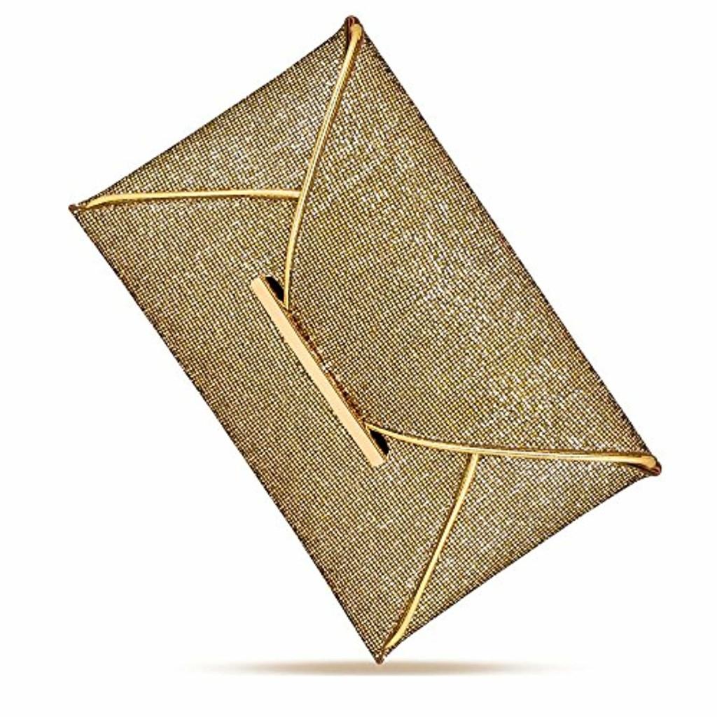 Pochette de Soirée pour Femme, URAQT Pochette Clutch Enveloppe, Sac à main Clutch pour Soirée Mariage 2018