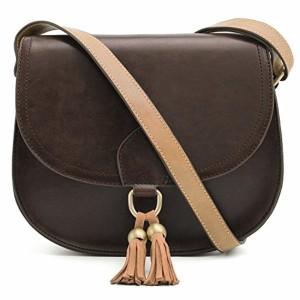 ECOSUSI Sac Porté Epaule Rétro pour Femme Sacoche de Selle Sac en Bandoulière Femme Saddle Bag 2018