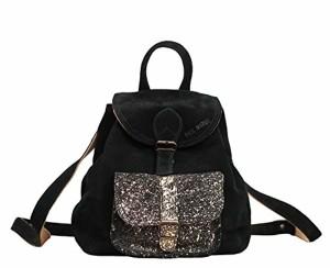 LE BAROUDEUR Noir – Doré petit sac à dos en cuir suédé nubuck de vachette style vintage PAUL MARIUS 2018