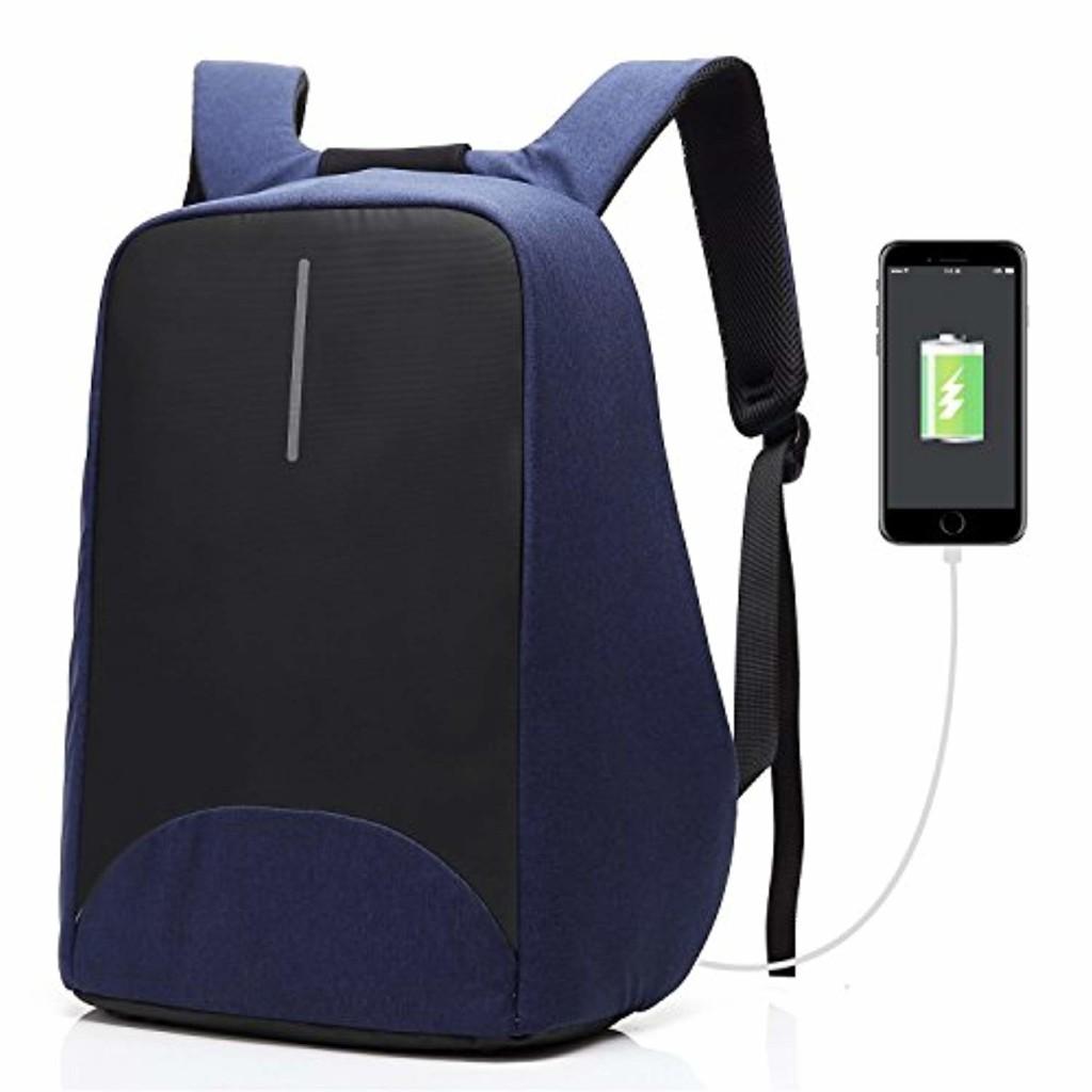 Coolbell Sac à Dos d'ordinateur Portable DE 15.6 Pouces avec Port USB de Charge/Sac Anti-vol Léger de Ville/Sac à Dos Fonctionnel Knapsack Backpack/Sac à Dos Imperméable pour Hommes/Femmes (Bleu) 2018