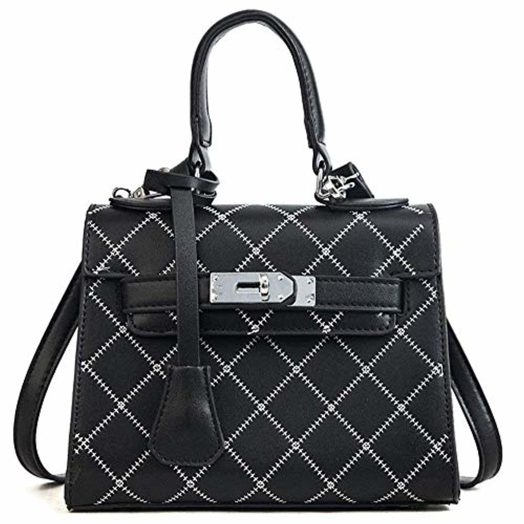 Eeayyygch Lingge Hand Bag Sac à bandoulière Couleur Polyvalent Sac Kelly, Rose (coloré : Noir, Taille : -) 2018