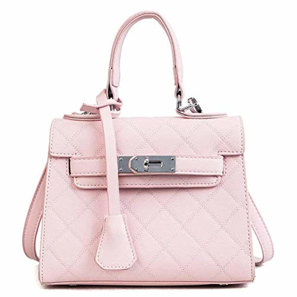 Eeayyygch Lingge Hand Bag Sac à bandoulière Couleur Polyvalent Sac Kelly, Rose (coloré : Rose, Taille : -) 2018
