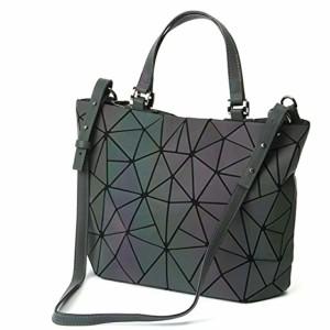Femmes poignée sacs géométriques sac lumineux Sacs à main en cuir PU et sacs à main des femmes Sac à bandoulière sac à main holographique éco 2018