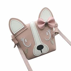 Fille Sac à Main Sac à Bandoulière Épaule, QinMM Enfants Chats Oreilles Chiens 3D Mignon Animal Bowknot Mini Crossbody Bag Fourre-Tout Crossbody Shopping Loisir 2018