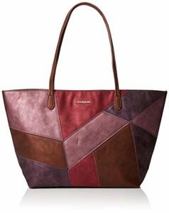 Desigual Bols_ares Capri Zipper, Sacs portés épaule femme, Rouge (Magenta), 13x28x30 cm (B x H T) 2019