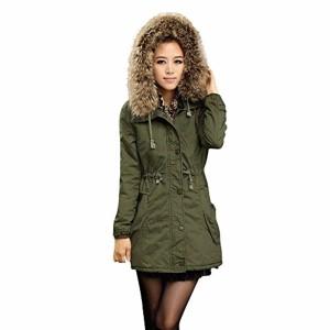 LuckyGirls Manteau Hiver Mode Femme Toison Manche Longue Coton Encapuchonné Court Chaud Poche zippée Veste Manteau 2019